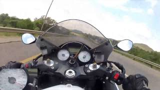 Kawasaki ZX14 Top Speed Test Ride - GoPro Hero 2 Tank Cam