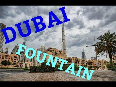 Captain Gibbs in Dubai Fountain