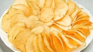 Как сделать чипсы в микроволновке/ How to make chips in the microwave