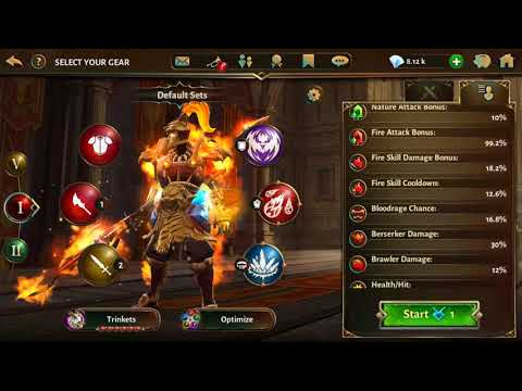 Dungeon Hunter 5 - Trying The New Legendary Fire S Weapon