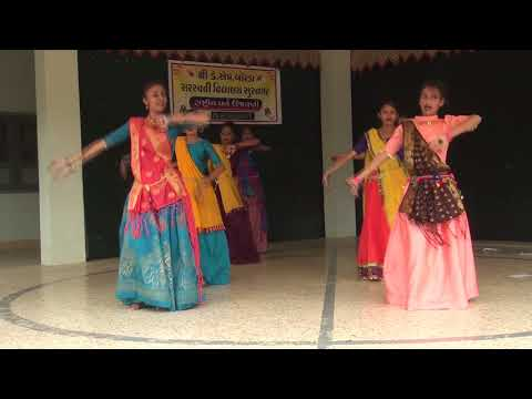 Gori Radha Ne Kado Kan Dance By Girls In 15th August 2018. K.M. Borda Sarasvati Vidyalaya.Surnagar.