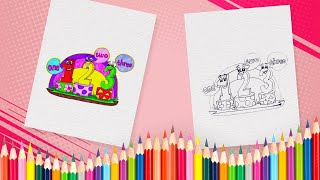 How to Draw Numbers 1 to 3 | Numbers Coloring Book Pages for Kids