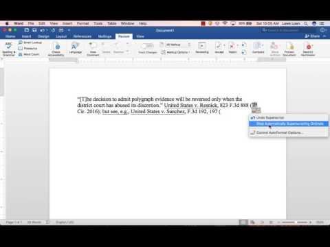 Disabling Superscript In Word 2016 For Mac