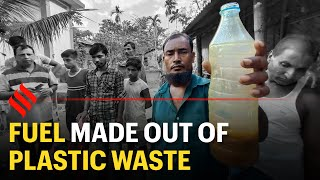 Tripura man made fuel by burning single-use plastics