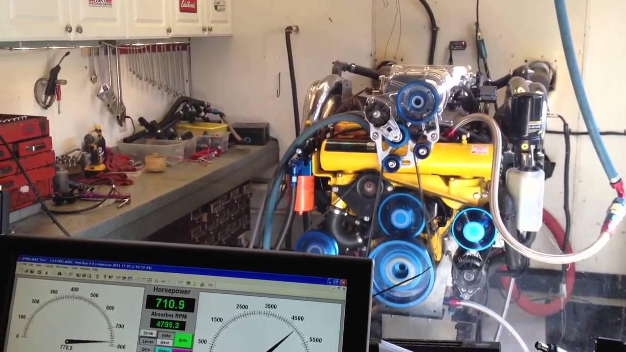 Precision marine dyno run 525efi w 3 3l whipple