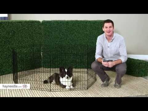 Midwest Black Exercise Pen without Door - Product Review Video