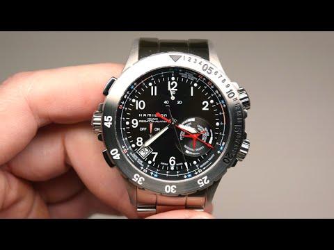 bd74bca0 Hamilton Khaki Navy Regatta Alarm Men's Watch Review Model: H77614133 -  YouTube