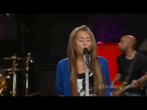 Miley Cyrus The Climb live AOL