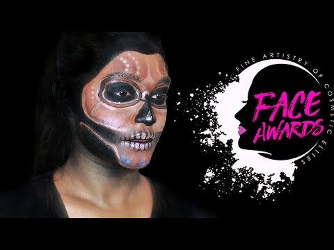 GLAM SKULL ALIEN || FACE AWARDS SINGAPORE ENTRY || sahursart