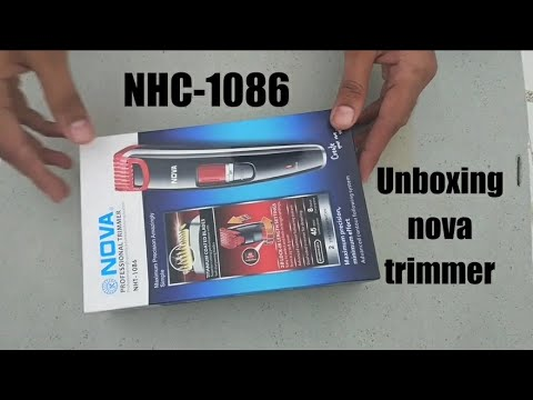 Unboxing nova professional trimmer NHT-1085/NHT-1086