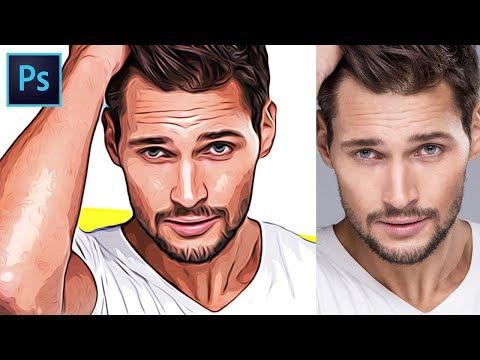 How to Turn Photos into Cartoon Effect - Photoshop Tutorial