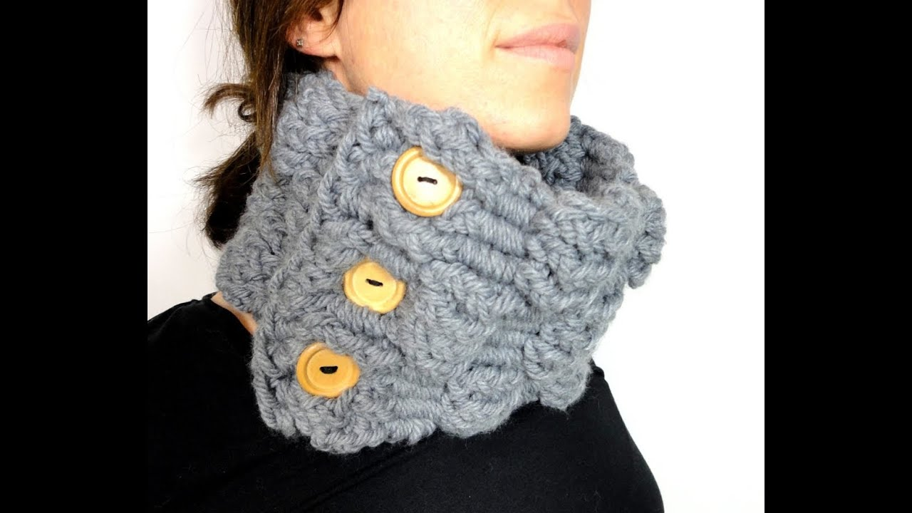 How To Loom Knit A Basket Weave Cowl With A Rectangular Loom Diy