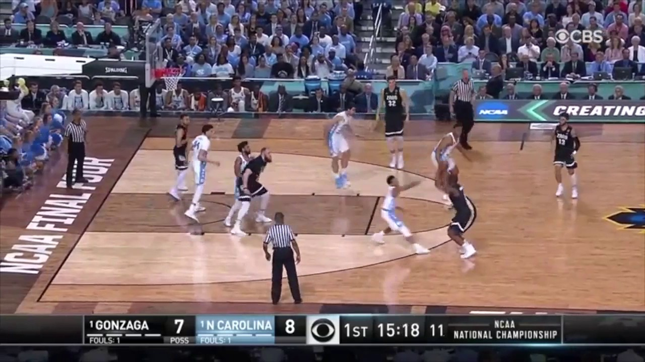 Highlights from the national championship gonzaga vs north carolina - Gonzaga Vs North Carolina 1st Half Baller Nation