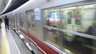 大阪メトロの天王寺行きがなんば駅を発車