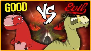 The Jurassic | GOOD VS EVIL | Dinosaurs Cartoons for Children and Kids | Dinosaur Facts and Names!