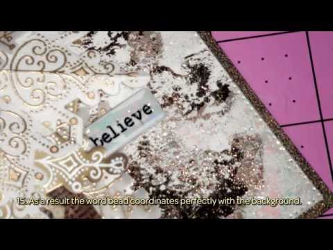 DISTRESSED GOLD DECO FOIL *Christmas Card* - DIY Crafts Tutorial - Guidecentral