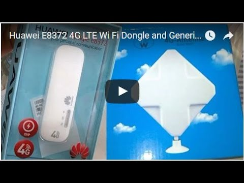 Huawei E8372 4G LTE Wi Fi Dongle and Generic 4G LTE Antenna TS9 Booster  Signal Amplifier JIO 4G SIM