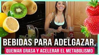 Bebidas para adelgazar, quemar grasa y acelerar el metabolismo - Refrescantes