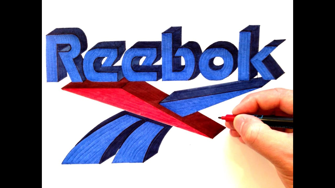 How to draw the reebok logo in 3d youtube buycottarizona Image collections
