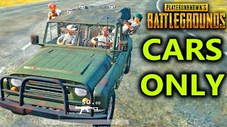 PlayerUnknown Battlegrounds - CARS ONLY DEMO DERBY?!! PUBG Custom Games!? Battlegrounds Gameplay