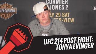 UFC 214 Post-Fight Press Conference: Tonya Evinger
