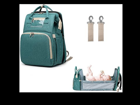 3 In 1 Mommy Diaper Backpack Bag With Foldable Travel Crib Lay Your Baby Down Anywhere Shorts Youtube