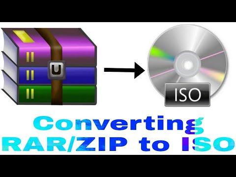 How to convert RAR/ZIP to ISO
