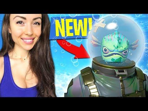 *NEW UPDATE* FORTNITE FISH MAN!! (Fortnite Battle Royale)