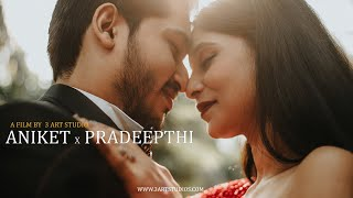 Aniket ~ Pradeepthi Pre Wedding Film 2021 | Cinematic Pre Wedding highlights  | 3 Art Studio I Vizag