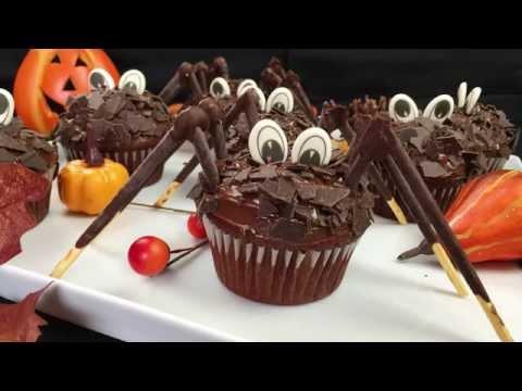 Halloween Special - Gruselige Spinnen Cupcakes / Schoko Muffins / Spider Cupcakes