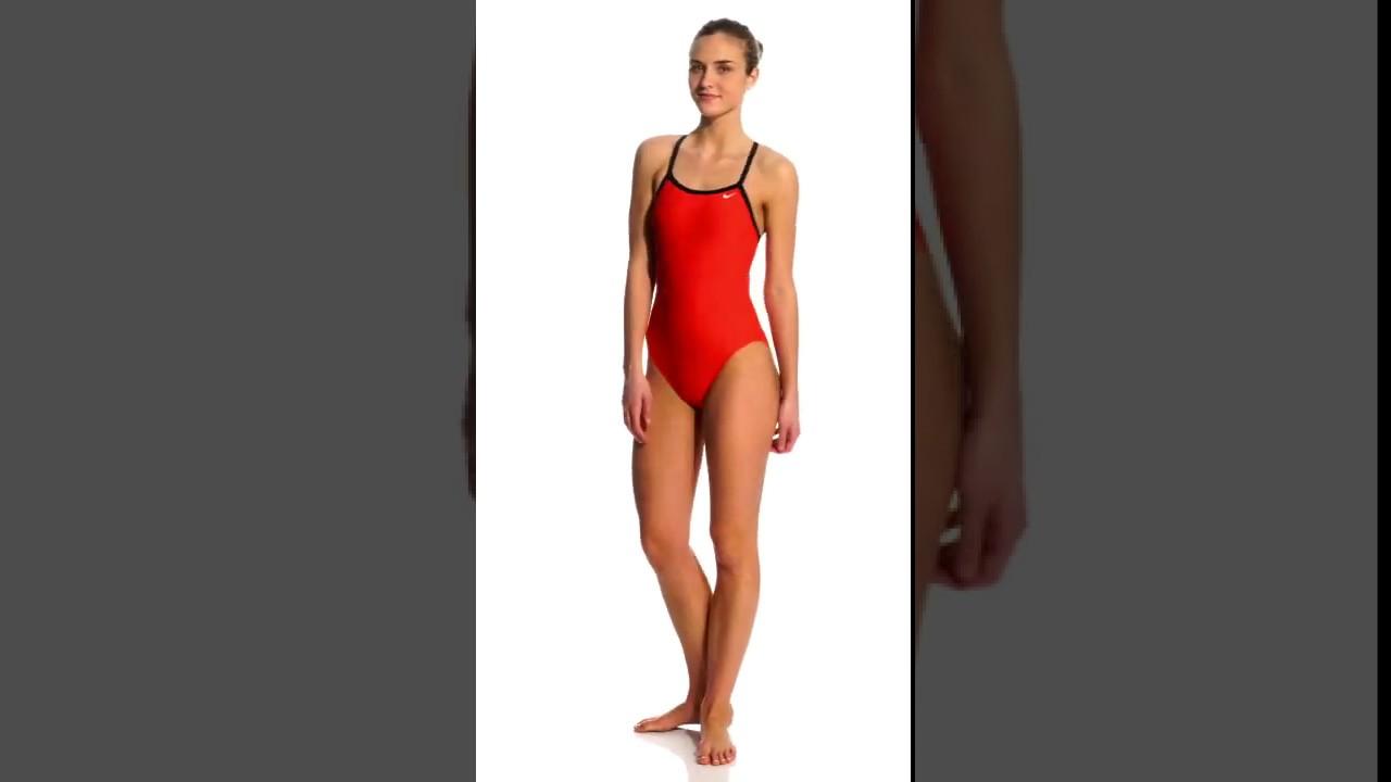 90f0541c40e Nike Swim Nylon Core Solids Lingerie Tank One Piece Swimsuit Fast Back  Swimsuit | SwimOutlet.com