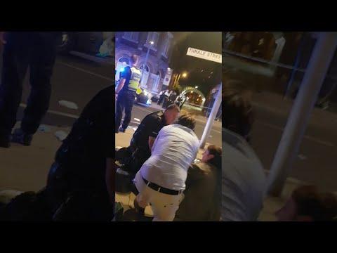 Outside Restaurant at London Bridge Terrorist Attack