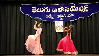 Aaraduguluntada by Sanjana and Manasvi at Sydney Telugu Association