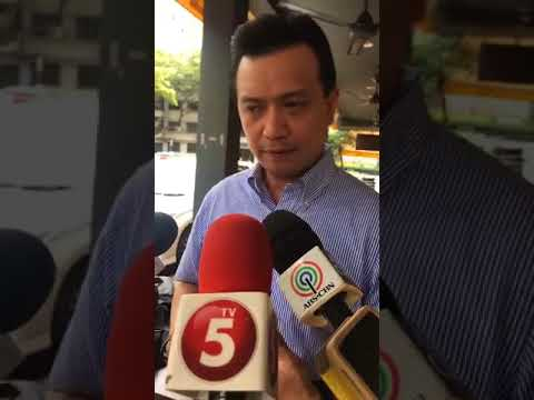 INTERVIEW OF SEN.TRILLANES BY THE MEDIA ABOUT THE OFFSHORE BANK ACCOUNT