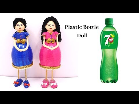 DIY Handmade Showpiece Plastic Bottle Craft Doll Making Idea/ Easy Home Decor From Waste