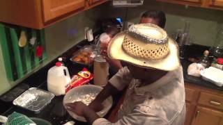 Auntie Fee And Tavis Makes Bread Pudding