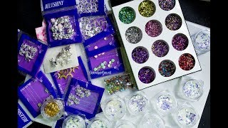 Aliexpress Nail Glitters & Embellishments Haul - femketjeNL