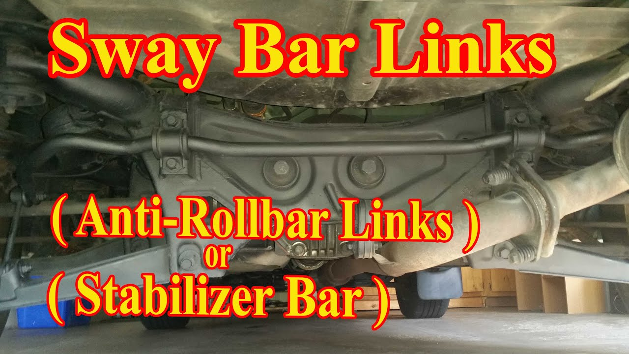 medium resolution of rear sway bar link replacement diy