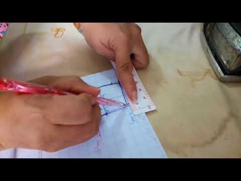 Cách vẽ quần tây túi mổ 2