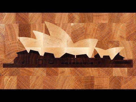 """Making a """"Sydney Opera House"""" end grain cutting board"""
