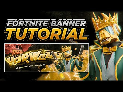 Tutorial - How To Make An INSANE Fortnite Banner in Photoshop! (EASY) thumbnail