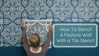 How to Create a Budget Friendly Feature Wall Using a Stencil!