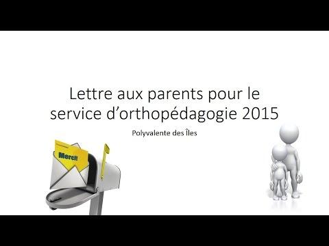 Lettre parent service orthopédagogie 2015