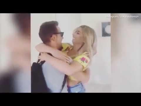 Stacey Solomon flies to Australia and surprises boyfriend Joe Swash   Daily Mail Online