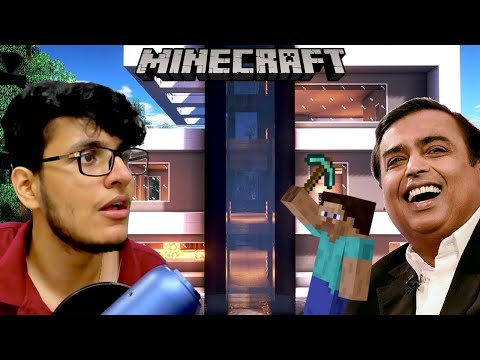 Building My Ambani ka Ghar in Minecraft Survival (Minecraft Live)