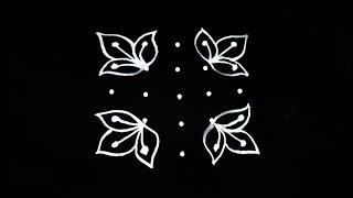 simple rangoli design with 5X3X3 dots-easy rangoli designs-rangoli for beginners-rangoli chicago