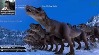 Ultimate Epic Battle Simulator #1 : Đội quân T-rex (500 con) vs Zombies