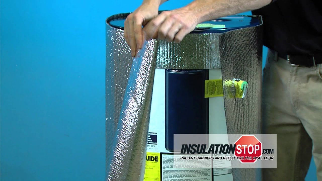 Infrastop hot water heater blanket installation youtube for Super insulated water heater