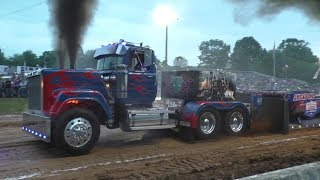 Lucas Oil Hot Rod Semi Trucks Pulling At Boonsboro