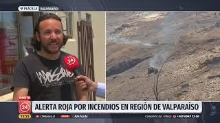 Se mantiene la alerta roja por incendios en la región de Valparaíso